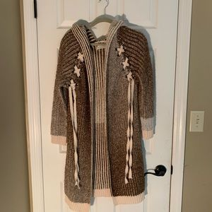 S/M long cardigan sweater